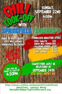 Chili Cook-Off with Springfield Forward